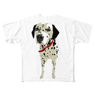 Walk with Dalmatian Full graphic T-shirts