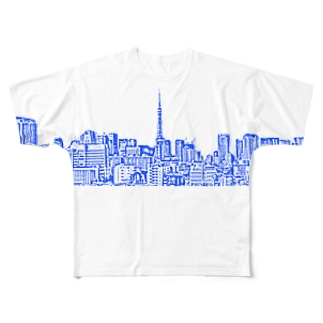 Tokyo Sight Full graphic T-shirts