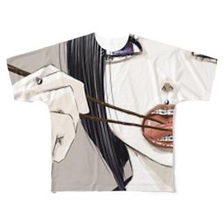自タン女子 Full graphic T-shirts