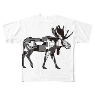 ヘラジカ Full graphic T-shirts
