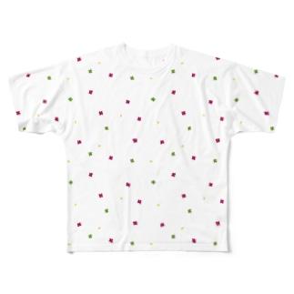 【No Asejimi】花柄 autumn Full graphic T-shirts