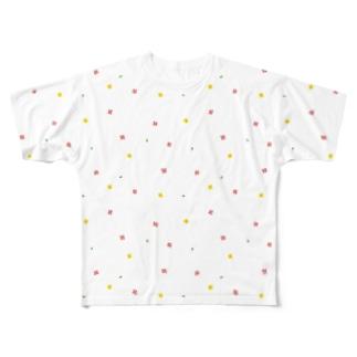 【No Asejimi】花柄 spring Full graphic T-shirts