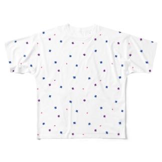 【No Asejimi】花柄 winter Full graphic T-shirts