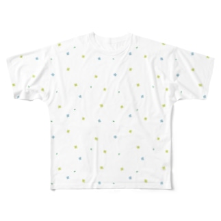 【No Asejimi】花柄 summer Full graphic T-shirts