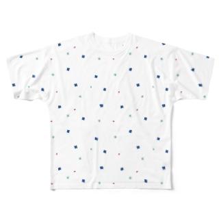 【No Asejimi】花柄 cool Full graphic T-shirts