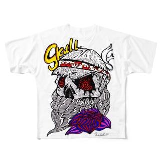 SKULL!! Full graphic T-shirts