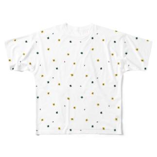 【No Asejimi】花柄 deep Full graphic T-shirts