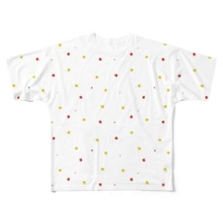 【No Asejimi】花柄 warm Full graphic T-shirts