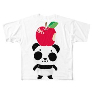 ズレぱんだちゃんのリンゴ食べたの誰? Full graphic T-shirts
