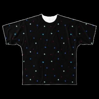 Y. CRESTの【No Asejimi】花柄 cool-BK Full graphic T-shirts