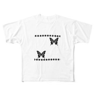 和ー蝶と桜ー Full Graphic T-Shirt