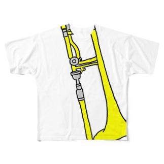 まるでとろんぼーん奏者 Full graphic T-shirts
