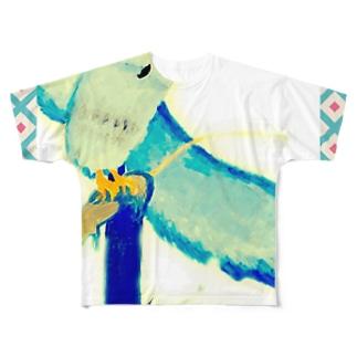 とにかく★フクロウ。 Full graphic T-shirts