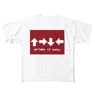 #428の#Take it easy Full graphic T-shirts
