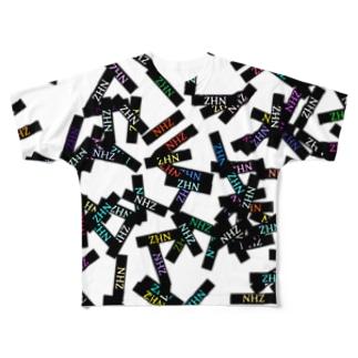 FAMIlIA 『NHZ』モノグラムTシャツ Full graphic T-shirts