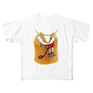 人食いのサイン Full graphic T-shirts