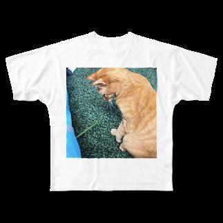 ハルマキの見てるだけ Full graphic T-shirts