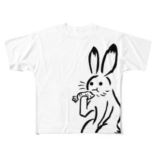 超鳥獣戯画(大ウサギ) All-Over Print T-Shirt