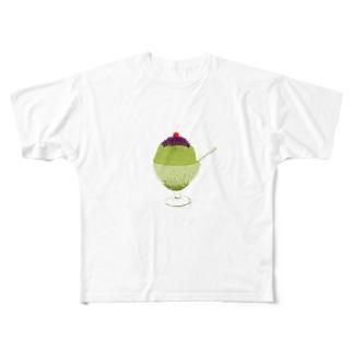 宇治金時<文字なし> Full graphic T-shirts