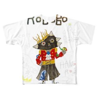 ROBOBO 「ハノンロボ」 Full graphic T-shirts