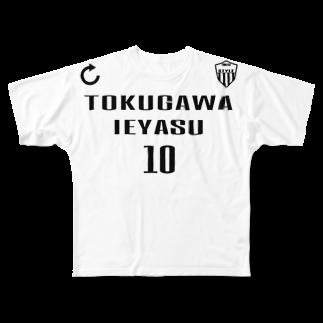 ENDLESS STYLEの徳川家康 Full graphic T-shirts