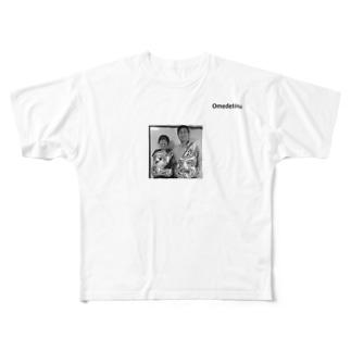 結婚祝いTシャツ Full graphic T-shirts