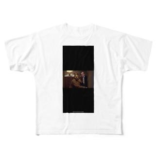 黒い犬男 Full graphic T-shirts