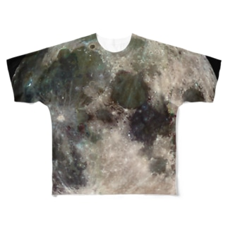 """the MOON / 愛と幸運の星"" Full graphic T-shirts"
