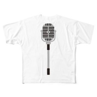 スタンドマイク Full graphic T-shirts
