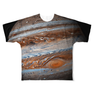 "SPACE++の""the JUPITER / 成功と発展の星"" Full graphic T-shirts"