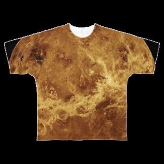 "SPACE++の""the VENUS / 美と芸術の星"" Full graphic T-shirts"