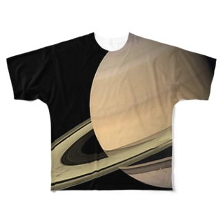 """the SATURN / 試練と成長の星"" Full graphic T-shirts"