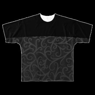 Y. CRESTのNo Asejimi - Vine E Full graphic T-shirts