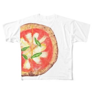 Pizza マルゲリータ Full graphic T-shirts