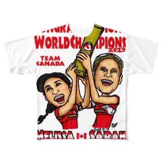 World Champs Melissa/Sarah Full graphic T-shirts
