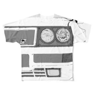 LANCIA DELTA HF FRONT(BK)  Full graphic T-shirts