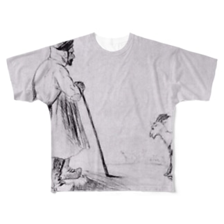 ゴッホ / 1862 /The Goat Herd / Vincent van Gogh Full graphic T-shirts