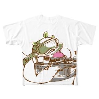 絶対に仕留めるブンチョ隊員 Full graphic T-shirts