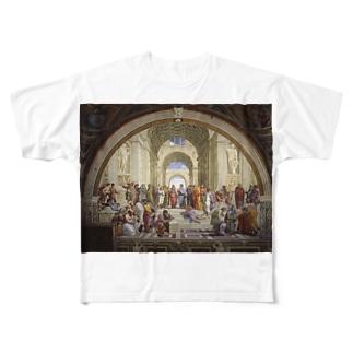アテネの学堂 Full graphic T-shirts