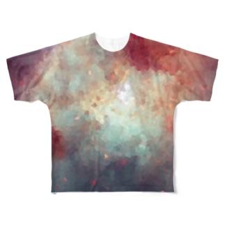 """MEMORIES:1 / 夕焼けに染まる,海と空を君に"" Full graphic T-shirts"