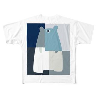 くまカラフル Full graphic T-shirts