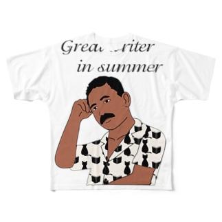 キッズモード某の夏の文豪 Full graphic T-shirts