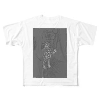 キラーチューン廃墟 Full graphic T-shirts
