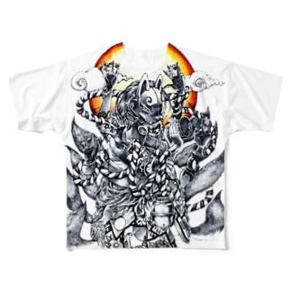 博打 Full graphic T-shirts