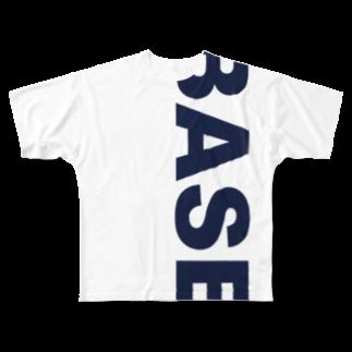BASE_CONDITIONING_LABOのBASE BIGロゴ  Full graphic T-shirts