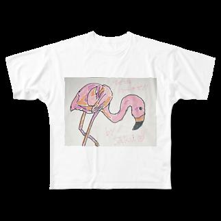 サクアンドツバミルヨシの愛やな Full graphic T-shirts