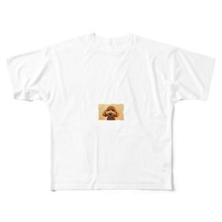 福が来るよ福ちゃんグッズ Full graphic T-shirts