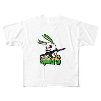 BeginnerS らびっと!カラー Full graphic T-shirts