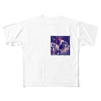 氷とワインの残り Full graphic T-shirts