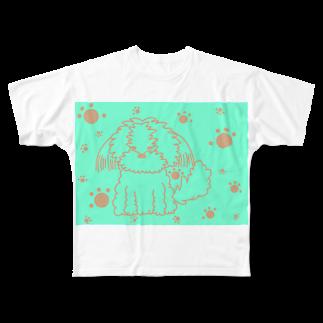 わんこい。の夏色シーズーちゃん Full graphic T-shirts